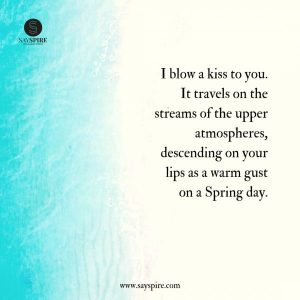 A Blowing Kisses Quote to My Soulmate