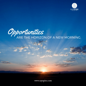 [Quote on Opportunity] The horizon of a new morning